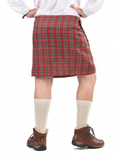 Kilt écossais avec fourrure adulte-1