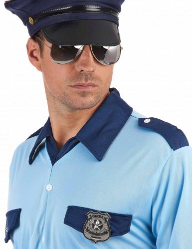 Badge de policier métal adulte-1