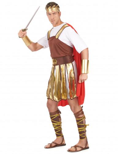 Déguisement gladiateur romain cape rouge homme-1