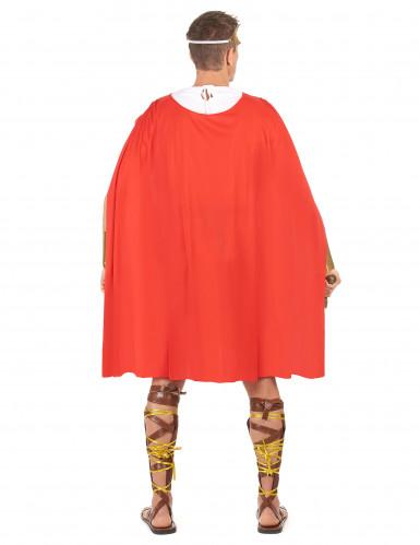 Déguisement gladiateur romain cape rouge homme-2
