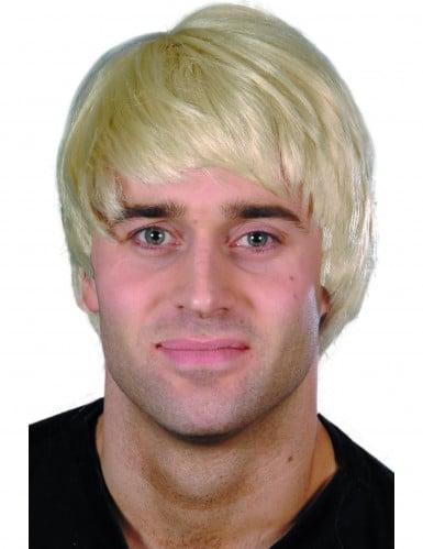 Perruque courte moderne  blonde homme
