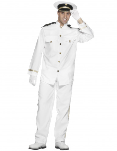 Déguisement capitaine marin blanc homme