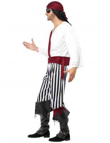 Déguisement pirate avec bandana rouge homme-1