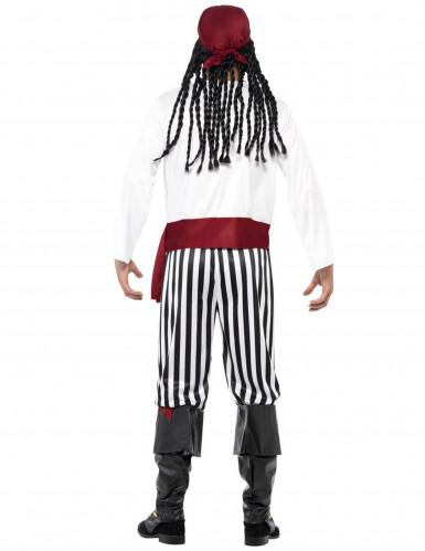 Déguisement pirate avec bandana rouge homme-2