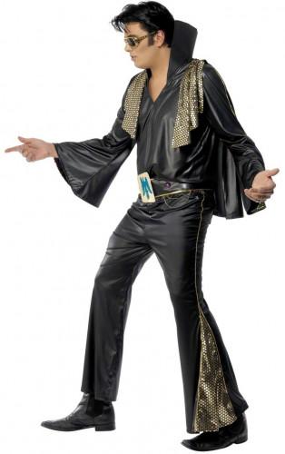 Déguisement Elvis Presley™noir et doré homme-2