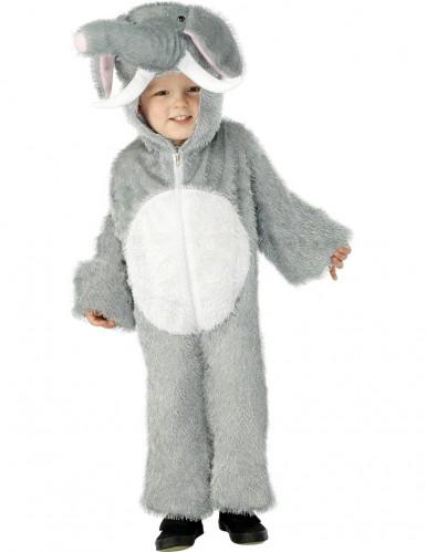 Déguisement éléphant gris et blanc enfant