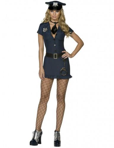 Déguisement policière sexy bleu marine femme