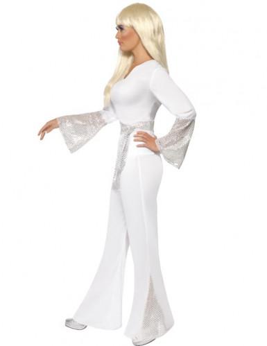 Déguisement disco blanc femme-1