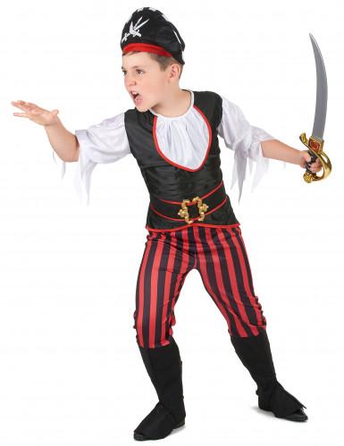 Déguisement pirate effet satiné garçon-1