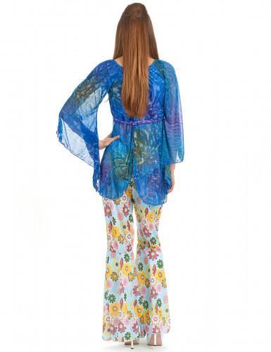 Déguisement flower power hippie femme-2