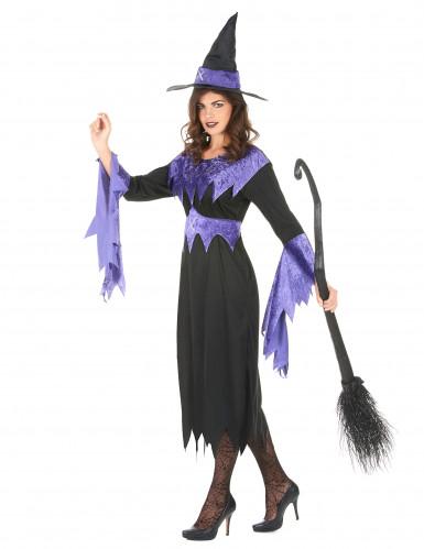 Déguisement sorcière avec chapeau femme Halloween-1