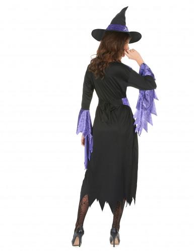 Déguisement sorcière avec chapeau femme Halloween-2