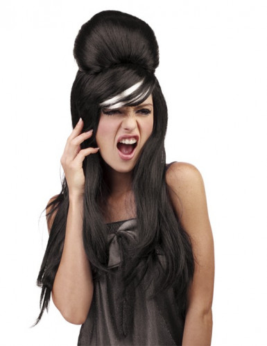 Perruque pop star noire femme