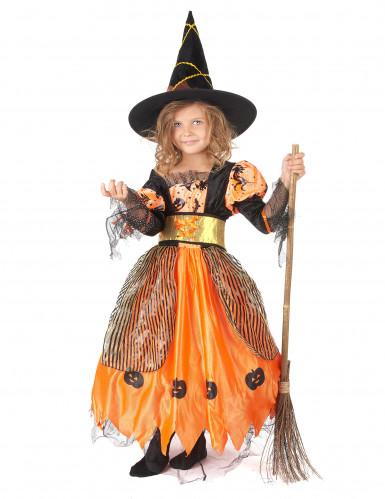 Déguisement sorcière orange fille Halloween  Deguise,toi