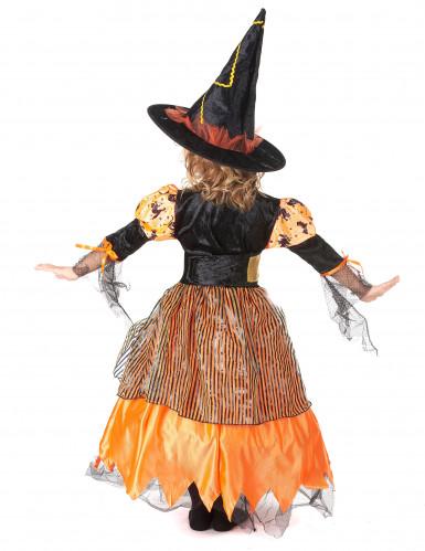 Déguisement sorcière orange fille Halloween-2