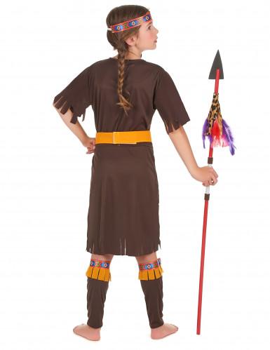 Déguisement indienne marron et jaune fille-2