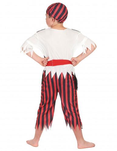 Déguisement pirate rayures noires et rouges garçon-2