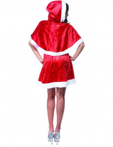 Déguisement mère Noël sexy à capuche femme-1