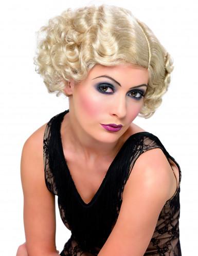 Perruque cabaret ondulée blonde femme