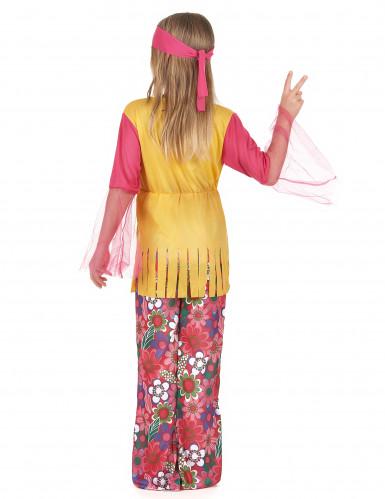 Déguisement hippie muticolore fille-2