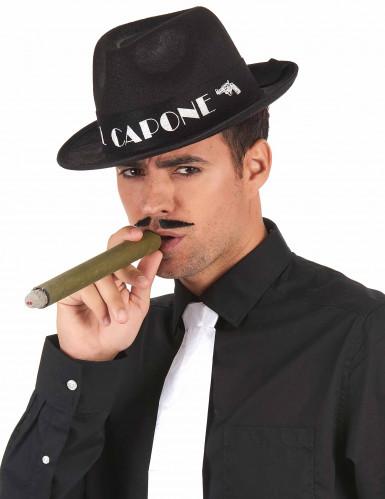 Chapeau borsalino Al Capone noir adulte-1