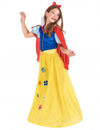Déguisement princesse à fleur fille-1