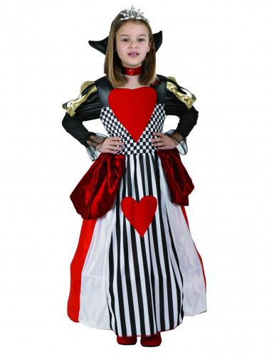 Disfraz de reina de corazones para ni�a