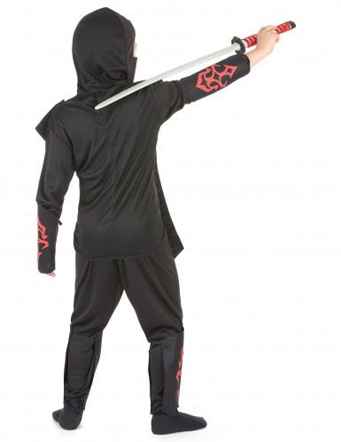 Déguisement ninja rouge à motifs garçon-2