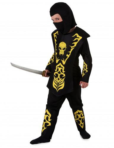 Déguisement ninja jaune garçon-1