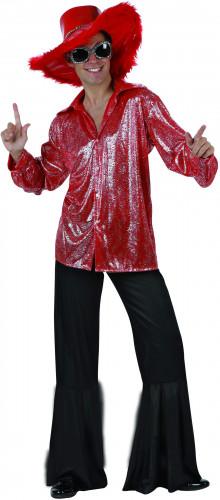 Disco-Kost�m in Rot und Schwarz f�r Herren
