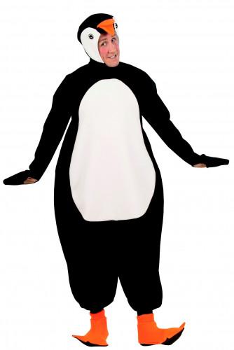 Déguisement pingouin noir et blanc adulte