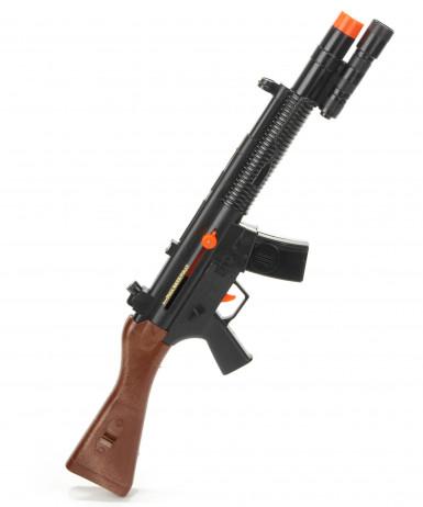 Fusil d'assaut de soldat sonore en plastique