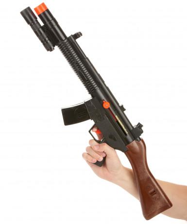 Fusil d'assaut de soldat sonore en plastique-1