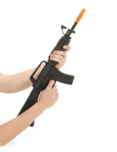 Fusil d'assaut sonore de soldat M16 en plastique-1