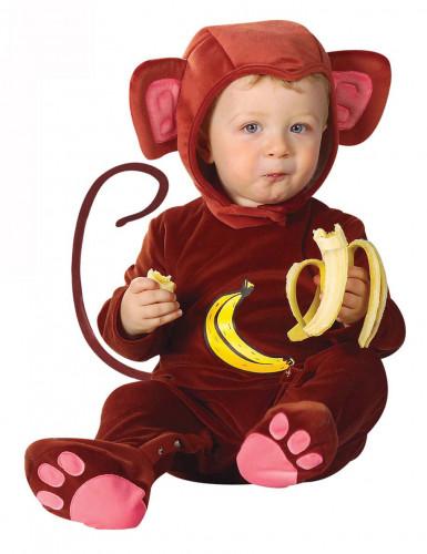 Déguisement singe effet velours bébé