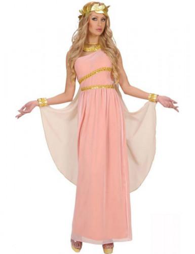 Déguisement déesse grecque rose femme