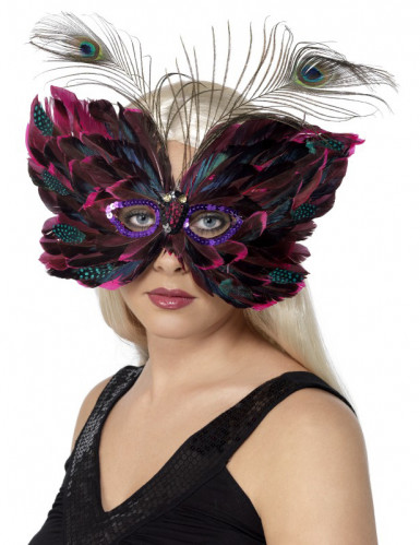 Oferta: Antifaz de mariposa con plumas para adulto