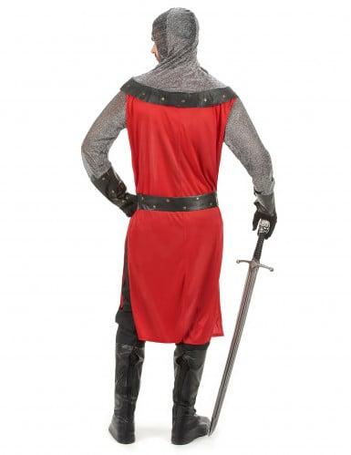Déguisement chevalier médiéval rouge homme-2
