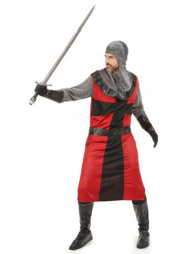 Déguisement chevalier médiéval rouge homme-1