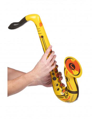 Saxophone gonflable jaune-1