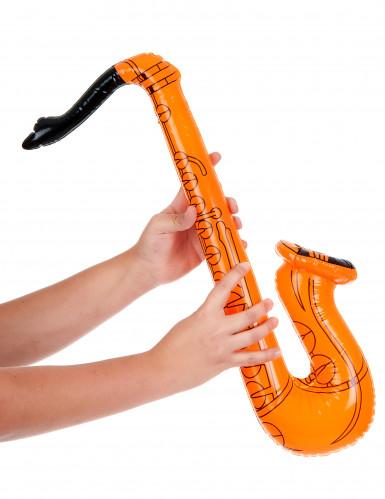 Saxophone gonflable orange adulte-1