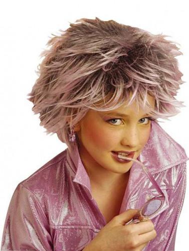 Perruque mèches violettes fille