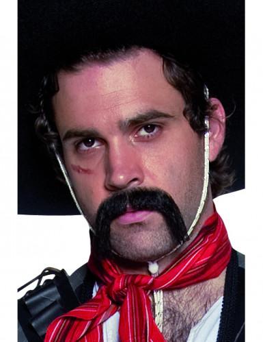 Moustache noire western mexicain adulte