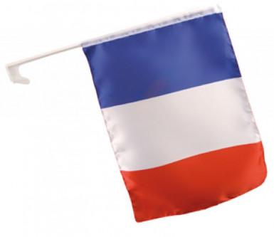 Drapeau pour voiture supporter français 30 X 46 cm