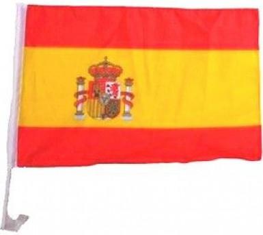 Drapeau pour voiture supporter Espagne 30 X 46 cm