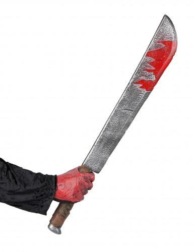 Couteau ensanglanté Halloween en plastique-1