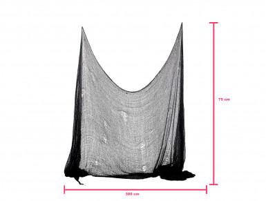 Décoration drap noir Halloween 300 x 75 cm-1