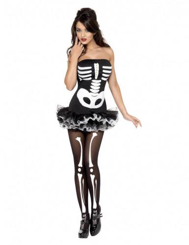 Déguisement squelette sexyfemme avec tutu Halloween-1