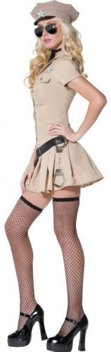 Déguisement policière femme sexy beige-2