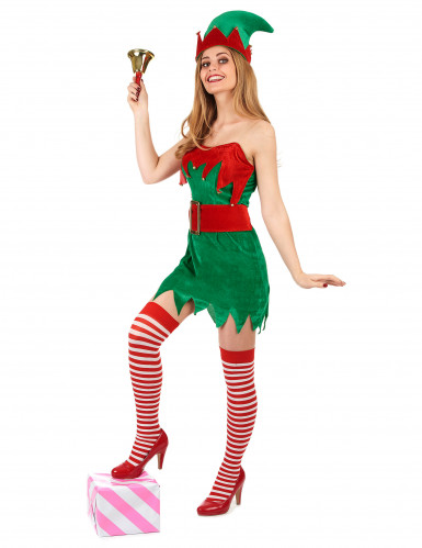Déguisement Elfe femme Noël-1